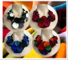 Deze #halssieraden met bloemen van vilt zijn niet alleen bijzonder maar lekker…