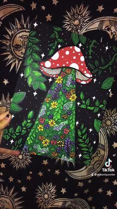 Simple Canvas Paintings, Small Canvas Art, Mini Canvas Art, Indie Drawings, Trippy Drawings, Art Drawings, Arte Hippy, Psychadelic Art, Hippie Painting