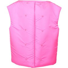 Cap Sleeve Vest | Moda Operandi (€2.640) ❤ liked on Polyvore featuring outerwear, vests, sheer vest and pink vest