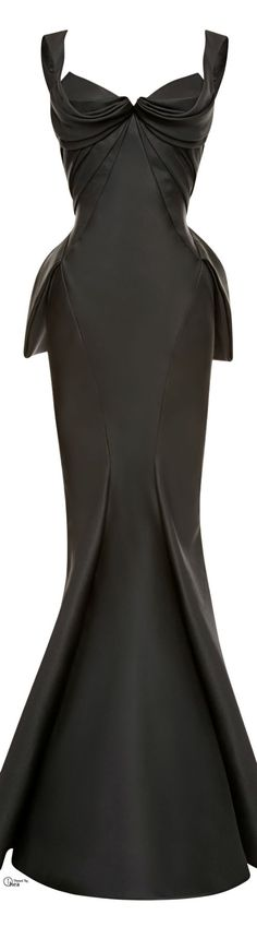 Zac Posen Black Mikado Duchess Gown WOW, if I won the lottery AND had somewhere to go!