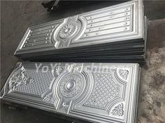 Steel door mould, metal door stamping die, Sudan steel door designs Door Molding, The Doors, Mould Design, Press Machine, Door Design, Decorative Boxes, Steel, Stamping, Pattern