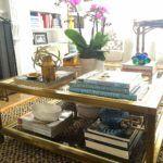 Vintage Brass Coffee Table Mirrored Coffee Tables, Brass Coffee Table, Brass Table Lamps, Brass Sconce, Brass Chandelier, Vintage Coffee, Light Fixtures, Lighting
