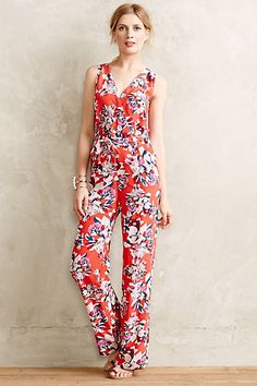 My husband may not appreciate a good jumpsuit but I sure do love them.  I dress for me, not him!  Flower District Jumpsuit - anthropologie.com