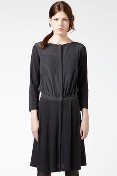 Interesting, but I like.  Lacoste Long Sleeve Mixed Media Boatneck Dress : Dresses
