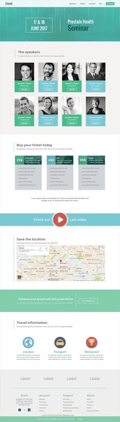 Evento event & conference template | Pinterest | Template