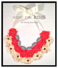 Fabric Necklace by Wear Me Knot.  Fabric Accesorries