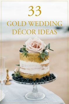 33 Gold Wedding Decor Ideas | Image by Paula McManus Photography