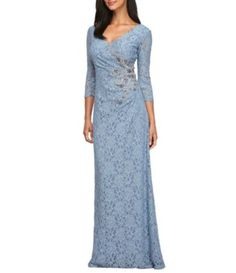 Shop for Alex Evenings Surplice V-Neck Beaded Lace Gown at Dillards.com. Visit Dillards.com to find clothing, accessories, shoes, cosmetics & more. The Style of Your Life.