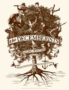 the decemberists w/ long winters Rock Posters, Band Posters, Concert Posters, Music Posters, Award Poster, Music Tree, The Decemberists, Artful Dodger, Jazz Poster