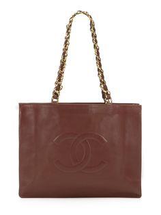 Vintage Brown Jumbo Tote Bag by Chanel
