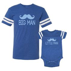 We Match Big Man   Little Man Mustaches by wematchclothing Camisa Para  Papa 75a315b3253c4