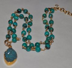 Turquoise and druzy