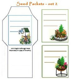 free printable seed packets - 4 sets