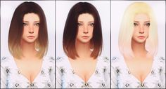 [elliesimple] – Hair recolor ombré | Sims 4 Updates -♦- Sims Finds & Sims Must Haves -♦- Free Sims Downloads