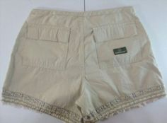 7.91$  Watch here - http://viley.justgood.pw/vig/item.php?t=tkcgs083591 - Jordache Women's Size 7/8 Khaki Beige Shorts Bermuda Embroidered Frayed Trim