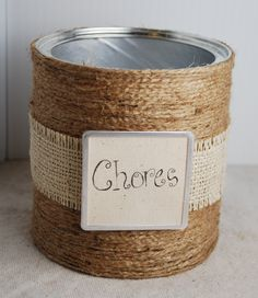 Chore chart system using popsicle sticks and jars. Cute and functional!