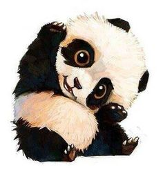 if you don't find pandas cute you are not human! I love pandas! Art And Illustration, Animal Drawings, Cute Drawings, Drawing Animals, Pencil Drawings, Art Mignon, Art Anime, Animation, Love Art