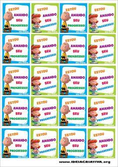 Etiquetas Com Frases Para Incentivos Educação Infantil Portuguez