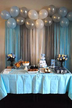 Baby Boy Shower Balloon Ideas by The Meads