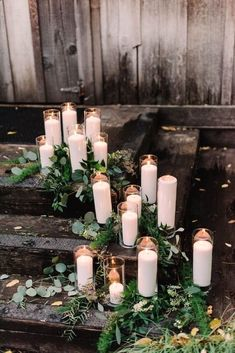 What a great season for rustic wedding themes. The crispy air, cool temperature and fascinating surroundings all make the fall wedding more attractive and stylish. Using the rich decorations offered by Mother Nature, it will add Rustic Wedding Decorations, Wedding Themes, Wedding Colors, Wedding Flowers, Wedding Advice, Wedding Venues, Wedding Ceremony, Purple Wedding, Wedding Recessional