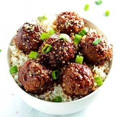 Beef Teriyaki Meatballs. A fun twist on two classic dishes. Serve over rice for an easy and delicious dinner.