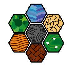 super simplistic alternate tiles for Settlers of Catan