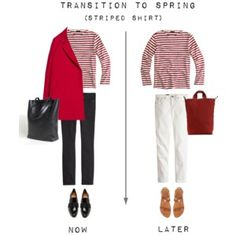 Transition to Spring - Striped Shirt