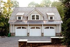 detached garage. this kinda matches the house plans we like.