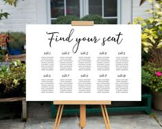 Custom Printable Wedding Seating Chart, Printable Wedding Table Poster, Printable Wedding Sign design, Black and White Minimalist Wedding by CustomPrintsNYC on Etsy https://www.etsy.com/listing/513539569/custom-printable-wedding-seating-chart