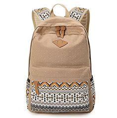 Hitop Geometry Dot Casual Canvas Backpack Bag, Fashion Cute Lightweight Backpacks for Teen Young Girls (Light tan) Hitop http://www.amazon.com/dp/B012A4QUIO/ref=cm_sw_r_pi_dp_T4Xwwb07Q2J4J