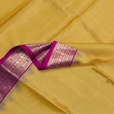Shilpi Handwoven Kanjivaram Temple Border Sari 101151