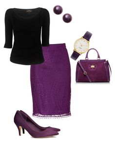 Plum Crazy by blmcdowell on Polyvore featuring polyvore, fashion, style, Vivienne Westwood Anglomania, Emilio Pucci, H&M, Tory Burch, Kate Spade and clothing