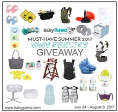 Baby Gizmo Must Have Baby Registry Gift Guide GIVEAWAY