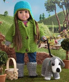 Walking the Dog for Dolls Free Crochet Pattern Click VISIT link for more