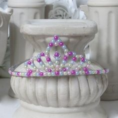 Pastel pearl princess tiara - Great for all occasions $12.00 by AVCustomDesigns