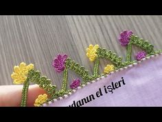 Crochet Lace Edging, Crochet Art, Baby Knitting Patterns, Diy And Crafts, Jewelry, Youtube, Crochet Embellishments, Tejidos, Tricot