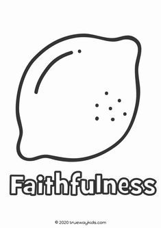 The Fruit of the Spirit Coloring page for kids - free printable