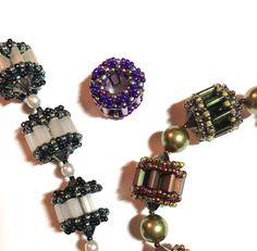 beaded bead - Geared Up by AnnaElizabethDraeger on Etsy - tila beads
