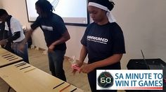 SAMWUMED Minute To Win It team building event in Cape Town, facilitated and coordinated by TBAE Team Building and Events Team Building Events, Team Building Activities, International Games, Team Building Exercises, Minute To Win It Games, Hands In The Air, Flipping, Challenges