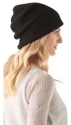 Plush Barca slouchy hat. Fleeced lined for those extra chilly days!
