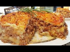 The potato and meat cake that will make everyone fall in love. CHECK IT OUT! Ham And Cheese, Macaroni And Cheese, Meat Cake, Potato Pancakes, Yams, Grubs, Food Menu, I Foods, Lasagna