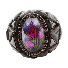 SEVAN BICAKCI  Amethyst Carved Tulip Ring