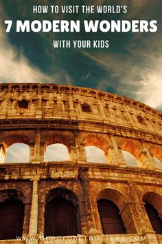 A family guide to planning your way to the 7 modern wonders of the world. Cross the continents as our travelling families explain the intricacies how to visit all 7 Modern Wonders of the World #familytravel #modernwonders Best Family Vacation Destinations, World 7, The Seven, Continents, Wonders Of The World, Family Travel, Travelling, Families, Around The Worlds