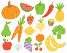 Fruits and Vegetable Clipart