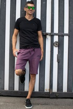 Nuffinz - the world's comfiest shorts are made from 100% GOTS accredited organic cotton french terry. No need to wear anything underneath. But you can if you like. We use the fabric outside-in. The perfect shorts for after board or lazy or crazy days. Discover sustainable clothing by Nuffinz. Find out more online. Free shipping for orders over 90€. #freeyourballs #sustainable The Eggplant Unicolor Crazy Day, Comfy Shorts, Sustainable Clothing, French Terry, Eggplant, Lazy, Organic Cotton, Sporty, Free Shipping