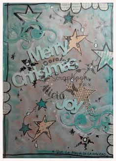 Art Journal page christmas. Página Art Journal reto Navidad.