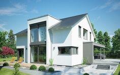 Concept-M Köln Modern-Classic - Bien Zenker - http://www.hausbaudirekt.de/haus/concept-m-koeln-modern-classic-2/ - Fertighaus als Einfamilienhaus Modernes Haus Stadthaus mit Satteldach