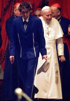 In 1997 Bob Dylan performed for Pope John Paul II at Italy's Eucharistic Conference. The Pope then returned the favour by giving a homily based on Dylan's lyric 'Blowin' In the Wind' He also enjoyed a critical renaissance at this time with well recieved album 'Time Out of Mind' and winning a Grammy Award.