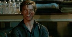 """Because Mac's smirks, smiles and laughs give me life.  All gifs from MacGyver 1x19 """"Compass""""  (Lucas Till as Angus MacGyver)"""
