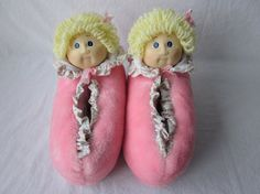 Cabbage Patch Kid Slippers I had a pair of these! Funny, how things return to memory. !